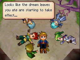 Matthew and his friends eat Dream Leaves and sleep on the ground to fight a tree's curse